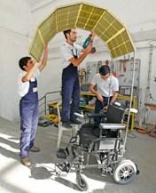 güneş enerjili tekerlekli sandalye